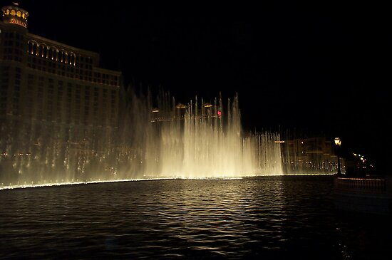 Foutains of Bellagio at Night by Lucinda Walter
