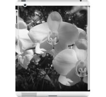 BW orchids iPad Case/Skin