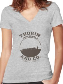 Thorin & Co. {Without symbol} Women's Fitted V-Neck T-Shirt