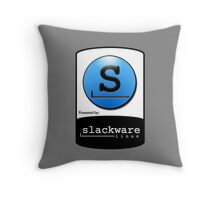 Powered By SlackWare ! Throw Pillow