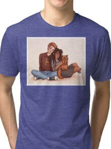 Ron and Hermione Tri-blend T-Shirt
