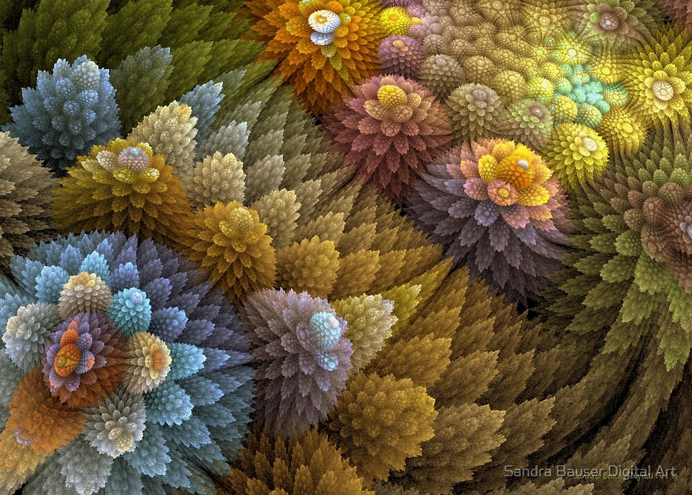 Cactus Garden by Sandra Bauser Digital Art