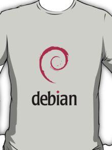 Powered By DebIan ! T-Shirt