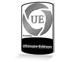 Powered by UE ! Greeting Card