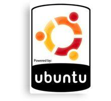 powered by Ubuntu ! Canvas Print