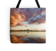 Reflecting on Yachts and Clouds - Lake Ontario Impressions Tote Bag
