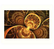 Golden wings Art Print