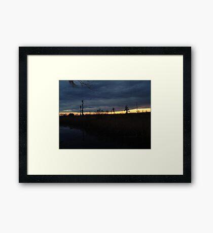 Weather Front Framed Print