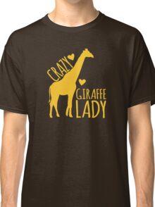 CRAZY Giraffe Lady  Classic T-Shirt