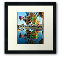 Balloons By The Pond Framed Print