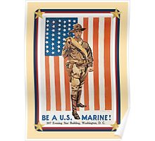 Vintage Be A US Marine Poster