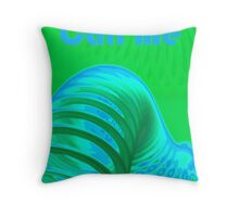Call Me Card Throw Pillow