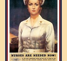Vintage USA Army Nurse Corps by SpiceTree