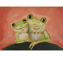 Frogs in Love Photographic Print
