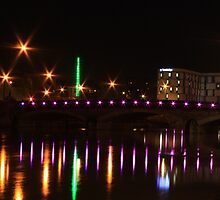 Maidstone Bridge at Night by Dave Godden