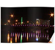 Maidstone Bridge at Night Poster