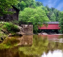 McConnell's Mill and Bridge by Kathy Weaver