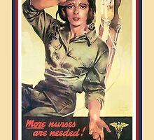 Vintage USA Army Nurse Corps 2 by SpiceTree