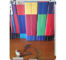 Harry Potter books and necklace iPad Case/Skin