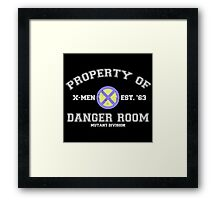 Danger Room Training Framed Print