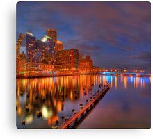Boston Tea Party Site at Sunset Canvas Print