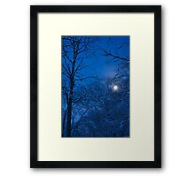 Snowstorm Moonrise Framed Print