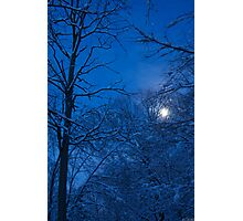 Snowstorm Moonrise Photographic Print