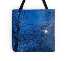 Snowstorm Moonrise Tote Bag