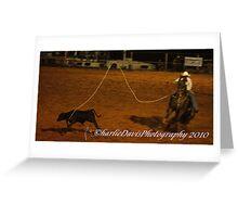 Calf Roping  101 Greeting Card