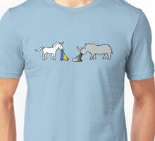 Unicorns Vomit Rainbows, Rhinos Vomit Greyscale Unisex T-Shirt