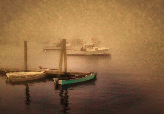 Early Snow Over The Harbor by GGleason