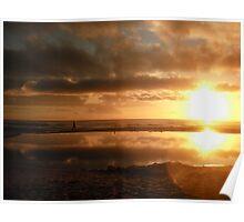 Golden Morning Stroll. Poster