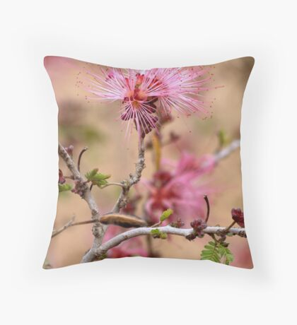 Pretty and Pink Fairy Duster Throw Pillow