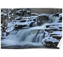 Factory Falls In Winter Poster