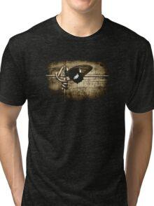 yin & yang (on black T-shirt) Tri-blend T-Shirt