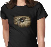 yin & yang (on black T-shirt) Womens Fitted T-Shirt