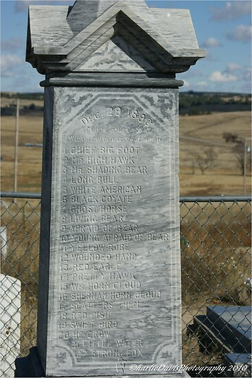 Wounded Knee Grave Marker by DrCharlie