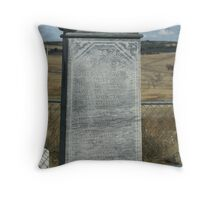Wounded Knee Grave Marker Throw Pillow