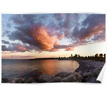 Colorful Summer Sunset - Lake Ontario Impressions Poster