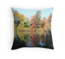Hall's Pond in autumn Throw Pillow