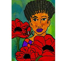 She Loves Poppies Photographic Print