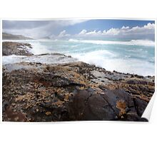 Ocean View from Champagne Pools, Fraser Island Poster