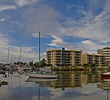 Ross Creek - King Tide - Townsville  by Paul Gilbert