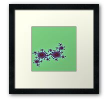 Green with Purple and Red Flowers Framed Print