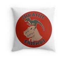 Jurassic Friends Throw Pillow