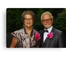 Mother and Father of the Groom Canvas Print