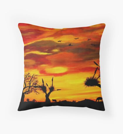 Colours of the Top End Throw Pillow