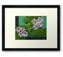 Flowers on the Green Framed Print