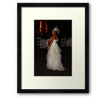 Zoe A Beautiful Bride Framed Print