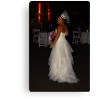 Zoe A Beautiful Bride Canvas Print